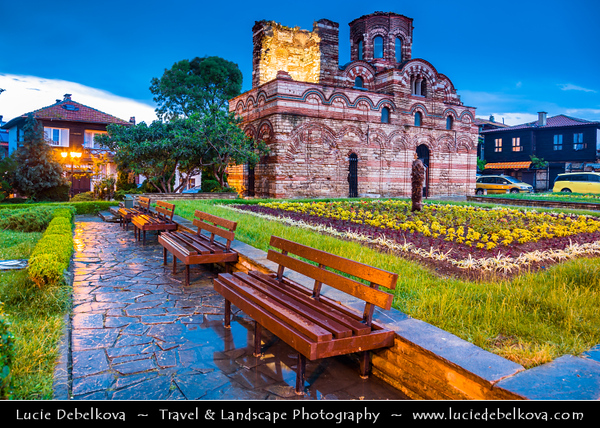 Eastern Europe - Bulgaria - България - Burgas Province - Nesebar - Nessebar - Nesebur - Несебър - Ancient town & one of the major seaside resorts on the Bulgarian Black Sea Coast - Pearl of the Black Sea - UNESCO World Heritage Site - Church of St. John the Baptist - One of the best preserved churches in Old Town