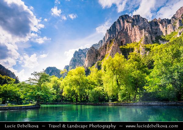 Eastern Europe - Bulgaria - България - Vrachanski Balkan Karst Nature Park - Beautiful area covered with karst limestones & unique complex of rocky crests, slopes, pyramids, pillars, caves & karst springs