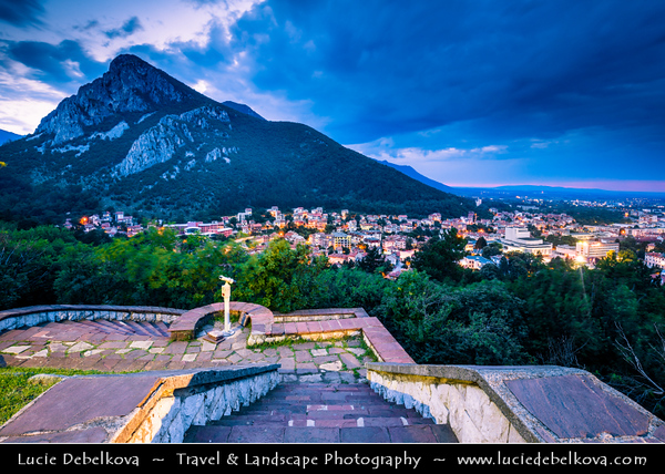Eastern Europe - Bulgaria - България - Vrachanski Balkan Karst Nature Park - Beautiful area covered with karst limestones & Vratsa - Враца cityscape from above