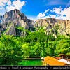 Eastern Europe - Bulgaria - България - Vrachanski Balkan Karst Nature Park - Beautiful area covered with karst limestones & unique complex of rocky crests, slopes, pyramids, pillars, caves & karst springs