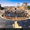 Eastern Europe - Bulgaria - България - Plovdiv - Пловдив - Ancient historical city built around 7 hills - Roman theatre - Ancient amphitheater of Philippopolis - Пловдивски античен театър - Plovdivski antichen teatar - One of world's best-preserved ancient theatres