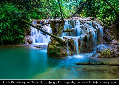 Eastern Europe - Bulgaria - България - Krushuna National Park - Krushunskiye Waterfalls - Крушунски водопади - Picturesque karst cascade waterfalls formed by many travertines