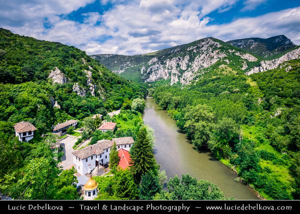 Eastern Europe - Bulgaria - България - Vrachanski Balkan Karst Nature Park - Cherepish Monastery Assumption of Virgin Mary along Iskar River