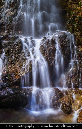 Eastern Europe - Bulgaria - България - Central Balkan National Park situated in the heart of Bulgaria, nestled in the central and higher portions of the Balkan Range - Waterfall on a small river