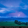 Eastern Europe - Bulgaria - България - Smolyan Province - Western Rhodope Mountains - Dusk during Heavy Storm with Thunder and Lightning