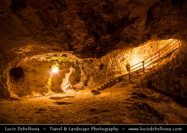 Eastern Europe - Bulgaria - България - Western Rhodope Mountains - Devil's Throat Cave - Dyavolsko Garlo - Branche of Trigrad Gorge - Natural phenomenon & popular tourist attraction