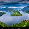 Eastern Europe - Bulgaria - България -  Rhodope Mountains - Kardzhali - Ribartsi - Meander on the Kardzhali lake - Kurdzhali Dam - Кърджали - One of the most picturesque landscape in Bulgaria