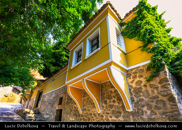 Eastern Europe - Bulgaria - България - Plovdiv - Пловдив - Ancient historical city built around 7 hills - Old town with traditional houses & cobblestone streets