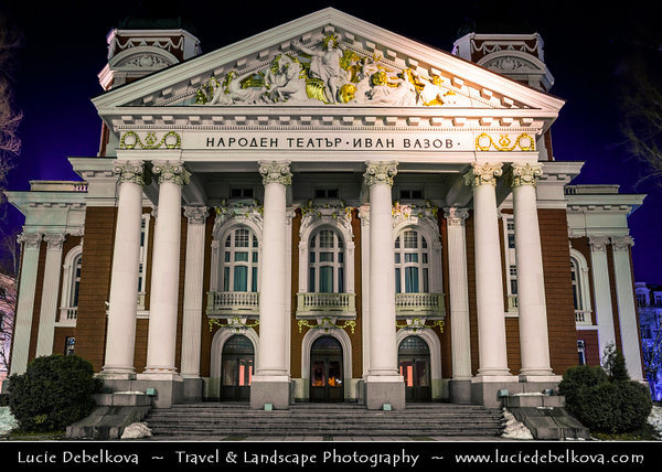 Eastern Europe - Bulgaria - България - Sofia - София - Capital & largest city of Bulgaria -  Ivan Vazov National Theatre - Народен театър Иван Вазов - Naroden teatar Ivan Vazov - Oldest & most authoritative theatre in the country and one of the important landmarks of Sofia