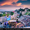 Eastern Europe - Bulgaria - България - Plovdiv - Пловдив - Ancient historical city built around 7 hills - Roman theatre - Ancient amphitheater of Philippopolis - Пловдивски античен театър - Plovdivski antichen teatar - One of world's best-preserved ancient theatres