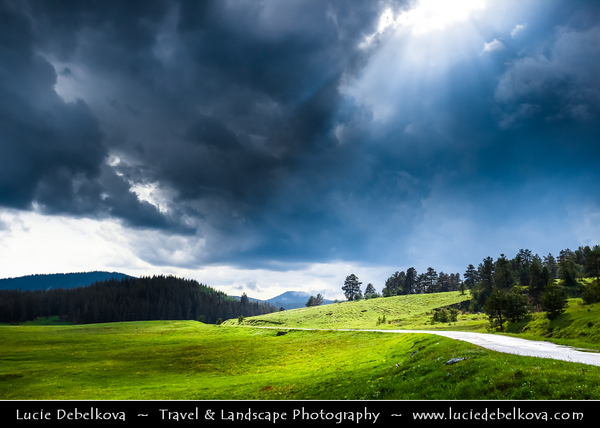 Eastern Europe - Bulgaria - България - Smolyan Province - Western Rhodope Mountains - Beautiful landscape with deep forest, lakes and rivers