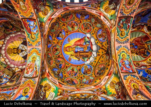 Eastern Europe - Bulgaria - България - Monastery of Saint Ivan of Rila - Rila Monastery - Рилски манастир - Rilski manastir - Largest & most famous Eastern Orthodox monastery in Bulgaria in the northwestern Rila Mountains - UNESCO World Heritage Site