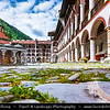 Eastern Europe - Bulgaria - България - Monastery of Saint Ivan of Rila - Rila Monastery - Рилски манастир - Rilski manastir - Largest & most famous Eastern Orthodox monastery in Bulgaria in the northwestern Rila Mountains - UNESCO World Heritage Site