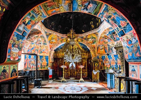 "Eastern Europe - Bulgaria - България - Transfiguration Monastery ""St. Transfiguration"" - Biggest monastery in Veliko Turnovo region and the fourth in Bulgaria - Eastern Orthodox monastery located in Dervent gorge of Yantra River"