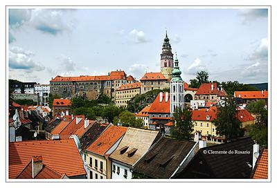A view of Cesky Krumlov Castle, Cesky Krumlov, Czech Republic