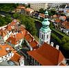 Aerial view of Cesky Krumlov,Czech Republic