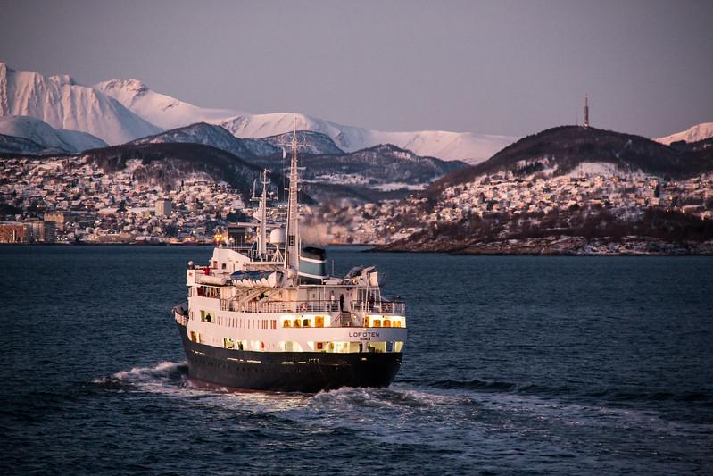 MS Lofoten near Harstad