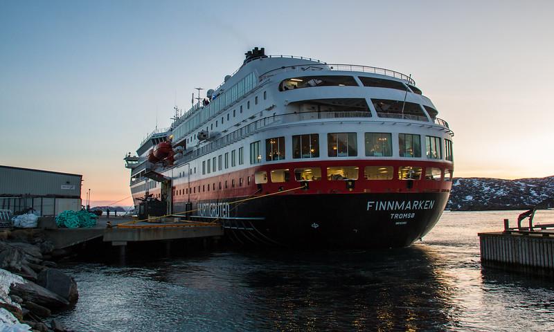 MS Finnmarken at Havøysund