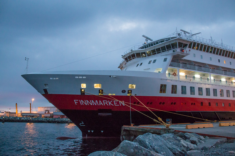 MS Finnmarken at Trondheim