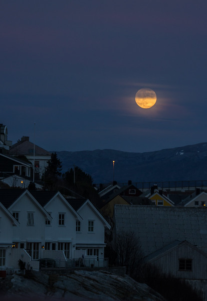Moon over Kristiansund