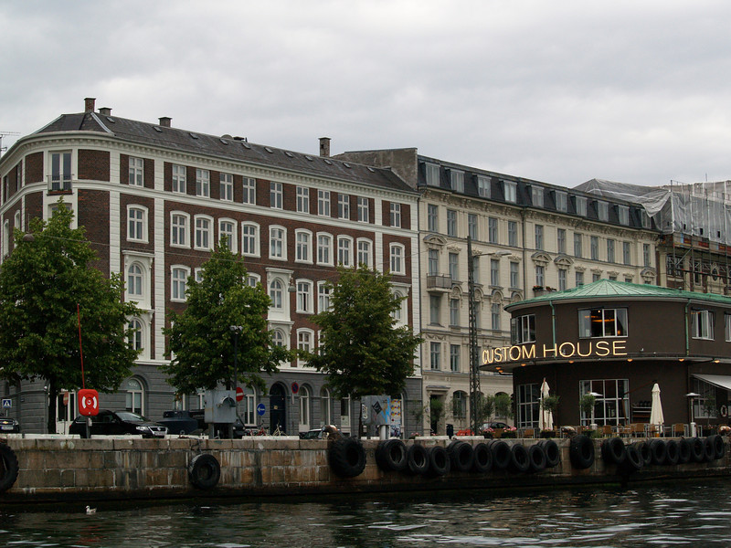 Along the canal in Copenhagen.  The Customs House was originally a government building in the 1930's but now houses a variety of bars and restaurants.