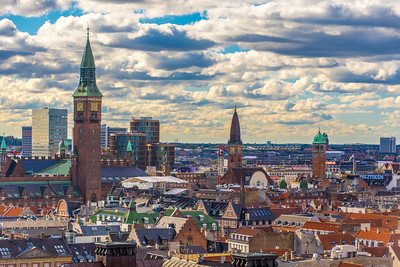 Downtown Copenhagen skyline
