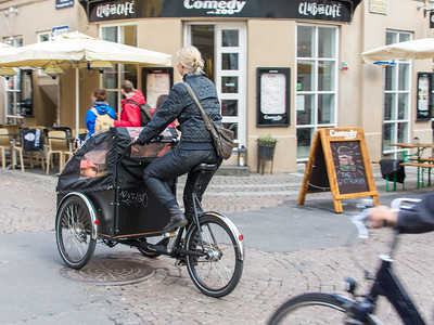 The three-wheeled Christiania Bike