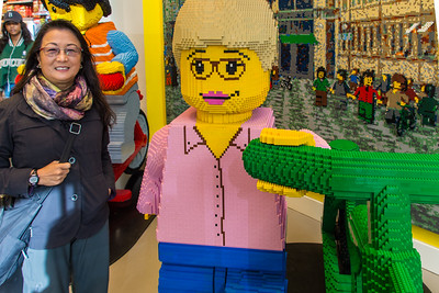 Life-sized Lego sculptures