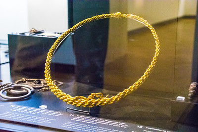 This neck ring is Denmark's largest gold treasure from the Viking Age, weighing 1.8 kg.