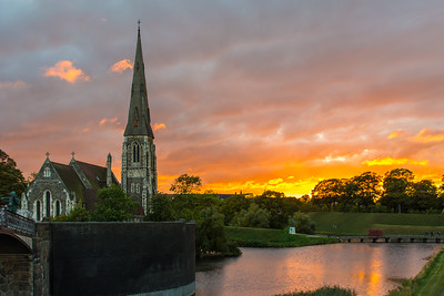 St. Alban's Church at sunset