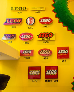 Lego logos through the years