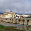 Roman bridge over the Guadalquivir River, with the Córdoba Mosque-Catherdral in background