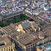 Aerial view of the Mezquita Mosque/Cathedral, in Cordoba