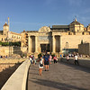 on the bridge, looking back toward the Mezquita