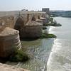 bridge over  the Guadalquivir river; same river that flows through Lisbon