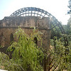 Old Roman epoch water wheel (wooden portions restored)