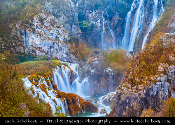 Europe - Croatia - Hrvatska - Plitvice Lakes National Park - Nacionalni park Plitvička jezera - Plitvice - UNESCO World Heritage Site - World famous for its lakes arranged in cascades - result of the confluence of several small rivers and subterranean karst rivers