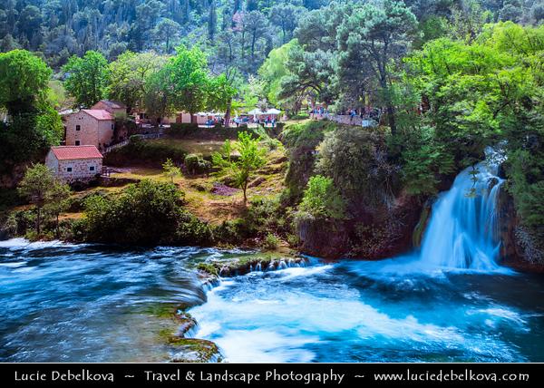 Europe - Croatia - Hrvatska - Dalmatia - Šibenik-Knin County - Krka National Park - Nacionalni park Krka - Famous waterfall, cascades and lake area along Krka River