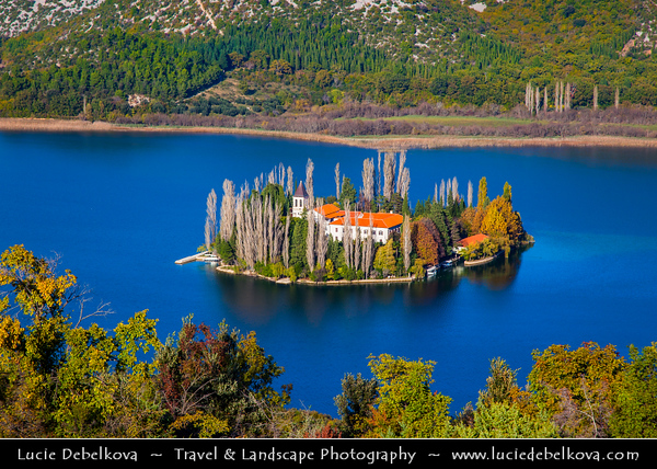 Europe - Croatia - Hrvatska - Central Dalmatia - Krka National Park - Visovac Monastery - Samostan Visovac - Catholic monastery on the island of Visovac