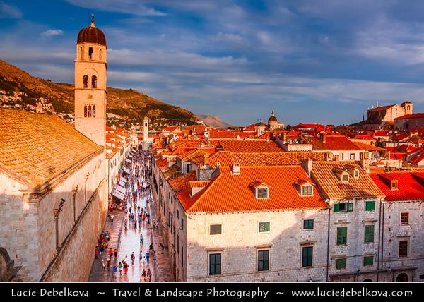 Europe - Croatia - Hrvatska - Dubrovnik - UNESCO World Heritage Site - Pearl of the Adriatic - Historical Mediterranean city on Adriatic Sea coast in extreme south of Croatia