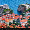 Europe - Croatia - Hrvatska - Dubrovnik - UNESCO World Heritage Site - Pearl of the Adriatic - Historical Mediterranean city on Adriatic Sea coast in extreme south of Croatia