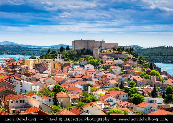 Europe - Croatia - Hrvatska - Central Dalmatia - Adriatic Coast - Šibenik - UNESCO World Heritage Site - Historical town & location of Cathedral of St James