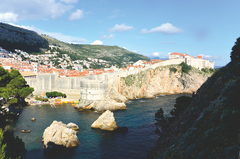 View of Old Town Dubrovnik. June 2016
