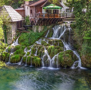 Rastoke....a small town with waterfalls between buildings...