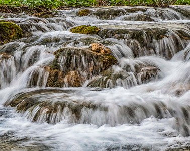 Rushing water...and endless stream of fast moving riverlets