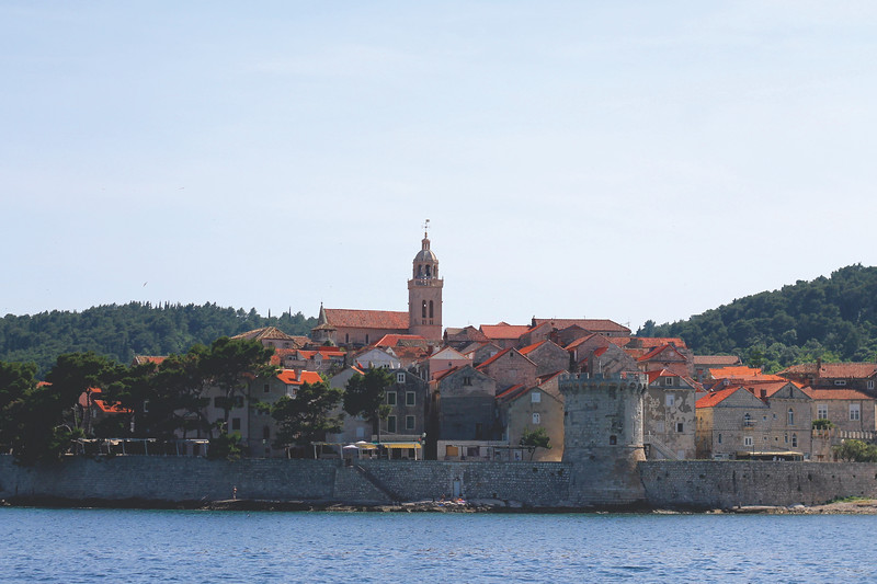 Approaching Korčula Island from a ferry. May 2016