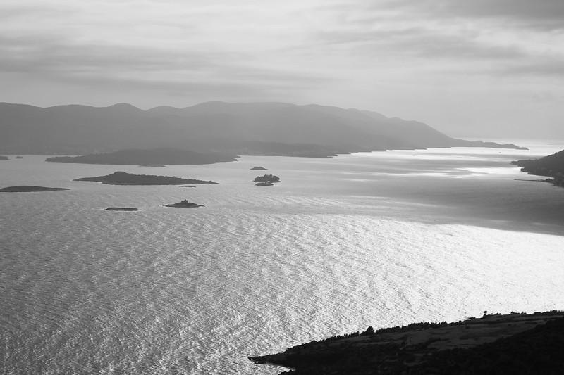 View of the Adriatic Sea and part of the Pelješac Peninsula. May 2016