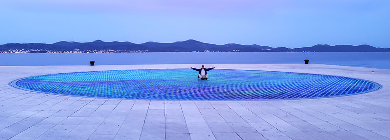 Traveler #2: Larry, saluting the sun at Salute to the Sun in Zadar