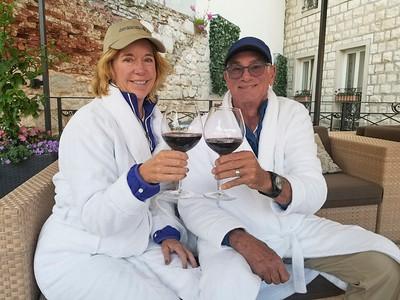 Toasting with fine Croatian wine in Split