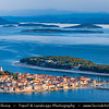 Europe - Croatia - Hrvatska - Central Dalmatia - Adriatic Coast - Primošten - Historical old town situated on small island